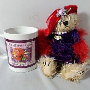 Red Hat Society Party Favors Lot of 8 Bears & Mugs